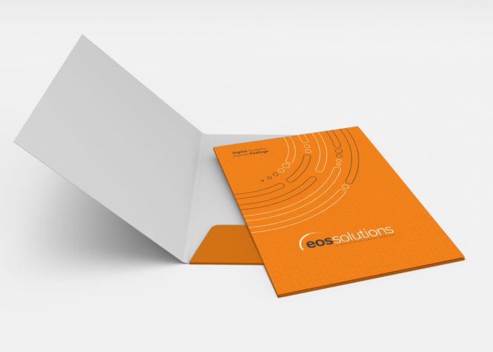 Blank folders mock-up isolated on white background